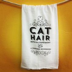 Cat lovers, you get it. It's hard to avoid when Kitty rules the roost. - 100% cotton flour sack fabric (thin, ultra-absorbent, and quick-drying!)