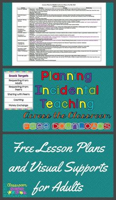 Implementing naturalistic instruction throughout the day in a classroom can be difficult. Here are 4 ways to help provide consistency. Teaching Special Education, Teacher Education, Teacher Resources, Classroom Resources, Classroom Ideas, Autism Resources, Teacher Tips, Autism Activities, Teaching Activities