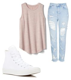"""Untitled #3"" by kayleeewar on Polyvore featuring Topshop, Gap and Converse"