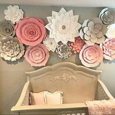 Conjunto de 15 flores de papel grandes multicolor Flores