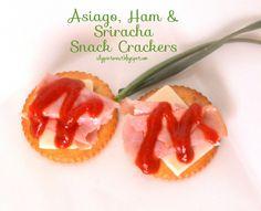 Asiago, Ham & Sriracha Snack Crackers
