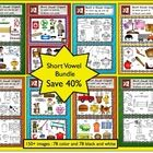 Save 40% on this 185+ piece short vowel clip art set includes 93 color images and 93 b/w line art.  There are 22 different word families that are g...