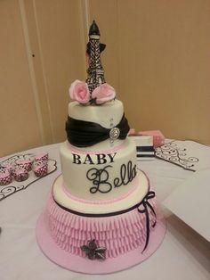 Paris baby shower cake...beautiful job!
