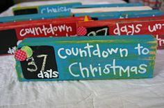 Countdown or days until board idea