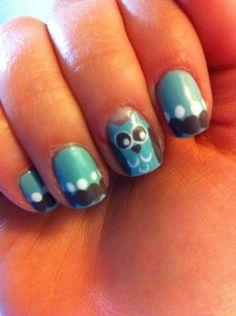 Owl nails 2 :)