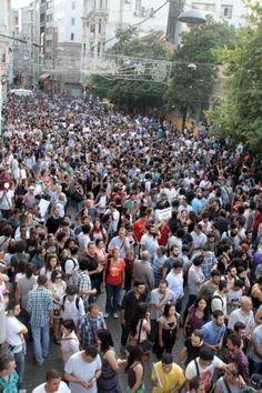 Taksim'de Lice olayını protesto yürüyüşü 29.06.2013