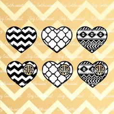 Heart Monogram Frame SVG, Heart Pattern Svg, Valentine's day Svg, Love SVG, Aztec Heart Svg, PNG, Vinyl, Eps, Cut Files, Clip Art, Vector, by SVGEnthusiast on Etsy