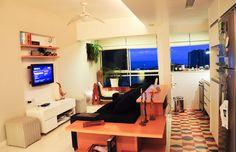 Decoração // Sala // Pequena // Cozinha // Dois Ambientes // Simples // Loft