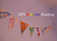 diy kid art bunting a fun way to transform kids' art  | Honest to Nod and Design Improvised
