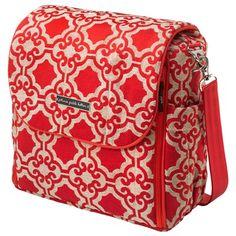 Petunia Pickle Bottom Diaper Bag Boxy Backpack Chenille Persimmon Spice