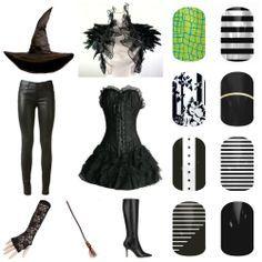 Oz the Great & Powerful's Wicked Witch of the West #JamberryNails inspired pairing. Which nail design would you wear with this costume? #BlackWhiteSkinnyJN #BlackWhiteStripeJN #BlackTieAffairJN #DarkestBlackJN #FloralNoirJN #StaticJN #HottoCrocJN #HalloweenNails #OztheGreat #WickedWitchoftheWest