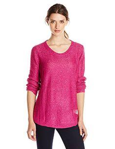 Rafaella Women's Sequin Sweater, Bright Magenta, Medium
