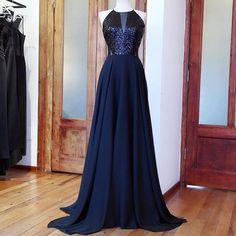 Handmade Black Dress Chiffon Dress Sleeveless by LiyanageBoutique