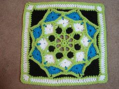 "Suncatcher 12"" Afghan Square, free crochet pattern by Julie Yeager"