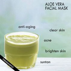 Aloe Vera is used as beauty treatment since ages as it's extremely effective and economical. Aloe Vera has antibacterial, anti-aging and anti-inflammatory properties. It can be consumed to get maximum benefits for health as well [. Aloe Vera Facial, Aloe Vera For Face, Aloe Vera Skin Care, Aloe Vera Face Mask, Aloe Vera Uses, Fresh Aloe Vera, Aloe Vera Hair Growth, Overnight Face Mask, Home Remedies For Skin