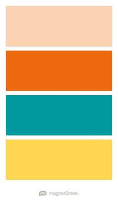 Peach, Orange, Teal, and Marigold Wedding Color Palette - custom color palette created at MagnetStreet.com