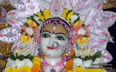 To view Sri Radha wallpapers of ISKCON Allahabad in difference sizes visit - http://harekrishnawallpapers.com/sri-radha-close-up-iskcon-allahabad-wallpaper-003/