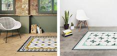 Las alfombras Hidraulik se inspiran en los suelos hidraúlicos que tanto protagonismo cobraron durante el modernismo.