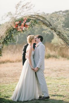 The most perfect ceremony arch ever... — Satin & Snow