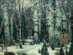 """""""Woodland Idyll,"""" John Fabian Carlson, 1917, oil on canvas, 40¼ x 52 5/16"""", Questroyal Fine Art."""