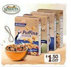 $1.50/1 Barbaras Cereal Coupon (Facebook)