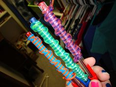Boondoggle pens!  Great for homework pencles! that is so cute! must learn how to make these!