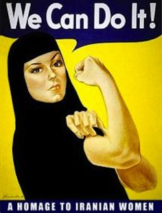 Jezebel& take on the famous Rosie the Riveter poster Rosie The Riveter Poster, Rosie Riveter, Ww2 Posters, Smash The Patriarchy, Iranian Women, Aesthetic Photography Nature, We Can Do It, Design Graphique, Powerful Women