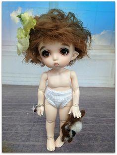 brown short WIG made for Fairyland Pukifee by megdesignsonetsy