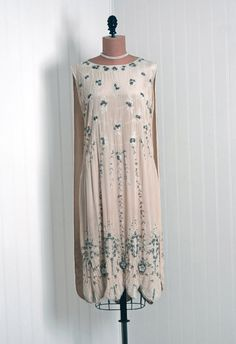 1920s Beaded Flapper Dress