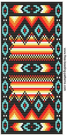 Free Beaded Wallet Pattern, Southwest Fire!!