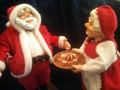 """Simpich Dolls """"Santa and Mrs. Claus"""" Artist Prfs of Mr. and Mrs. Nick from '97"""