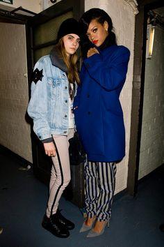 Lista de shopping y celebrities inspiradas en el estilo grunge: Cara y Rihanna