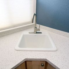 Corner Utility Sink : Corner Laundry Tub Idea For Wickline Pinterest Corner Sink ...