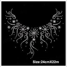 Free ship!12pc!Snowflake necklace design hotfix rhinestones heat transfer design iron on motifs spatches, DIY motifs rhinestones