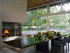 fire place, dining area, cabbagerose: broadmoor, seattle/suyama peterson deguchi, via: architectslist