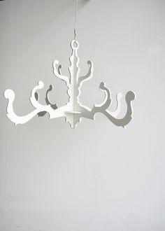 fancy chandelier in white by uncommon on Etsy, $65.00
