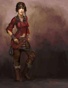 Concept art of Leah for Diablo III by Bryan Huang