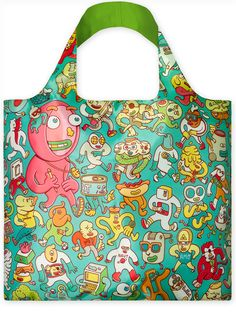 LOQI Tote Artists - Folks #shopper #reusable #grocery bag - #boodschappentas #abodeeloqibags