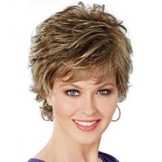 Shop our online store for short hair wigs for women. These natural hair and synthetic wigs fit mini petite, petite, average and large head sizes. Wig styles include straight, curly and wavy hair in your favorite pixie, bob or cropped hairstyle. Hair Styles For Women Over 50, Medium Hair Styles, Curly Hair Styles, Short Styles, Cheap Human Hair Wigs, Short Hair Wigs, Curly Short, Best Lace Front Wigs, Celebrity Wigs
