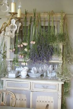 Love the dried flowers