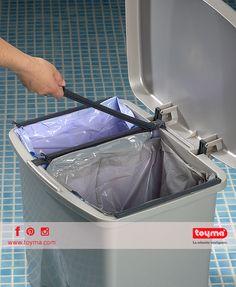 Compartimos nuestro cubo de basura Ecológico Con fácil apertura y separador regulable e higiénico #Toyma #hogar #cubo #basura #ecológico #trashcan