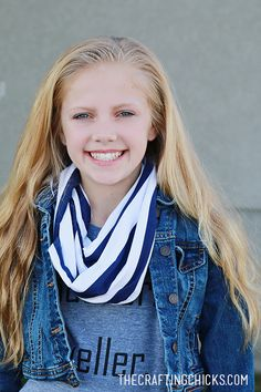 DIY Youth Infinity Scarf in 15 Minutes!