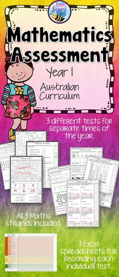 These Maths tests, for year one students, are linked to the Australian Curriculum. They cover Number & Algebra, Measurement & Geometry and Statistics & Probability. This package includes three assessments that will help to provide data that can be used to inform judgements of student achievement at certain times of the school year.