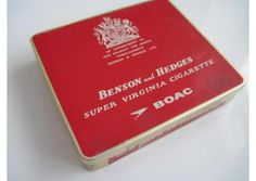 Benson and Hedges BOAC cigarette tin (20/empty) c.1950/60