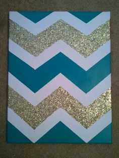 @Kaitlyn Boyle Nash Funsch Can you do this? I will provide the paint/canvas... DIY Chevron wall art for any room
