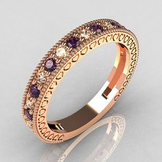 I want this - it looks like an antique! Lovables Luxury Collection 14K Rose Gold 27 ctw by artmasters, $799.00
