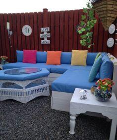 Pallet Corner Garden Lounge Set