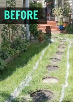 A husband and wife are sick and tired of their muddy lawn. First they draw a design, but then they do THIS!