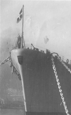 Bow of battleship Roma, date unknown
