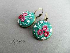 Hey, I found this really awesome Etsy listing at https://www.etsy.com/listing/514696901/filigree-polymer-clay-earringsfloral